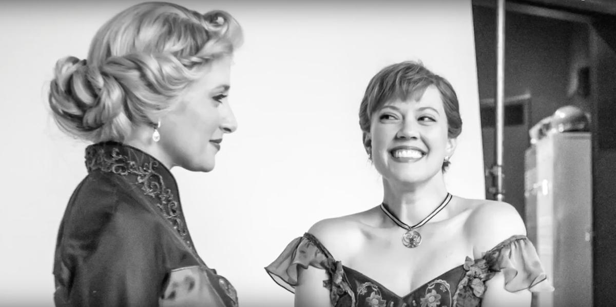 Frozen video still - Caissie Levy - Patti Murin