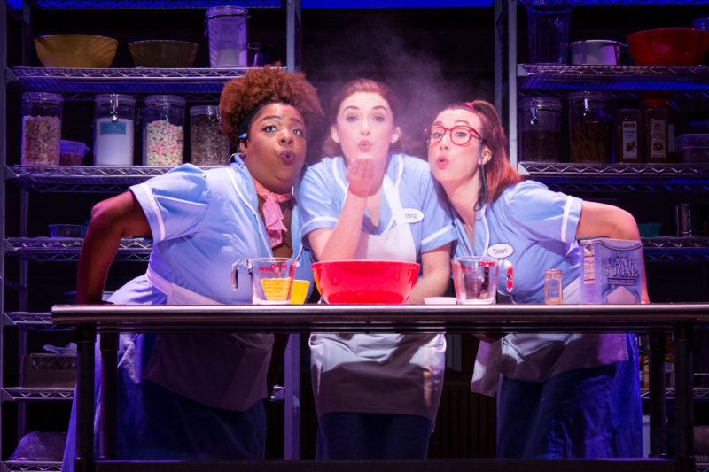 Maiesha McQueen, Christine Dwyer and Jessie Shelton in the Tour of Waitress Credit Philicia Endelman DSC_1295