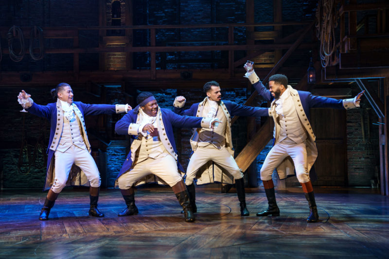 "The ""And Peggy"" company of Hamilton"