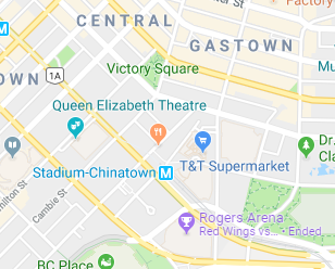Google Map for Queen Elizabeth Theatre in Vancouver